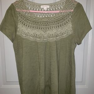 Olive Green Maternity Top